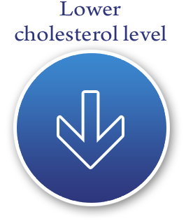 Lower cholesterol level